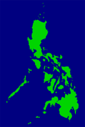 Map of Philippines (Major Islands)