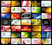 Variety of business card template vector-2