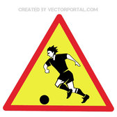 WARNING WATCHING FOOTBALL SIGN.eps
