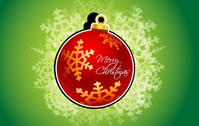 Abstract Christmas Card on Gradient Background