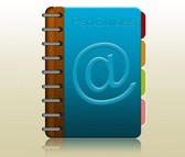 Tabbed Coiled Address Book Icon PSD