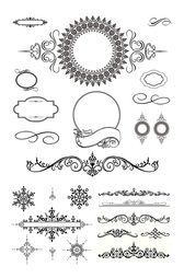 Several European-Style Lace Pattern