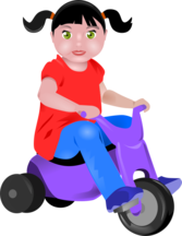 toddler on Tricycle