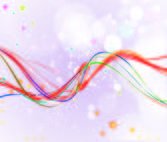 Abstract Background with Colorful Wavy Lines