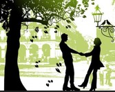 Free silhouettes of loving couples