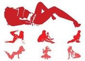 Seductive Girl Silhouettes