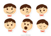 Niños Emotions Vector Pack 1