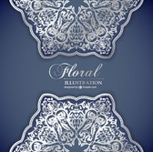 Floral lace pattern invitation