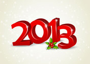 Free New 2013 year greeting card vector-6
