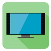 FLAT TV ICON VECTOR.eps