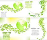 Vector Graphic Leaves The Earth