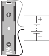 Battery Connector Block With AA Holder