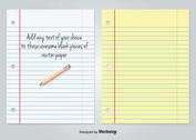 White and Yellow Lined Blank Paper