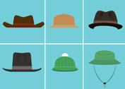 Free Vector Hat Set