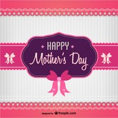 Mother's day sweet vector card