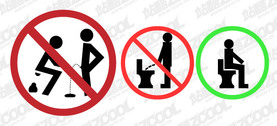 Toilet prohibitory signs