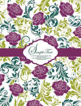 Pattern background Card vector004