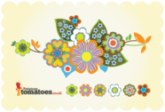 Retro Flowers gratuit Vector Art