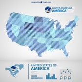 USA vector map infography