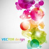COLORFUL BUBBLES VECTOR ILLUSTRATION.eps