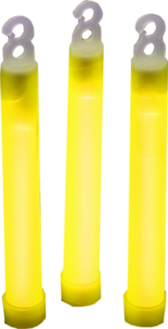 3 Yellow Glow Sticks PSD