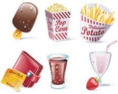 Set de Vector stock Ilustrations Fast-Food