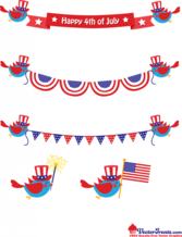 Free Vector Graphics to Celebrate the 4th of July