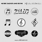 Music badges and icons