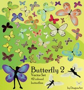 42 Butterfly Vector Of The Material