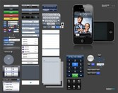 iPhone UX User Interface Elements PSD