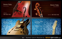 Musicians Business Card Designs