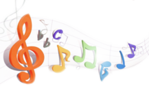 rainbow music notes PSD