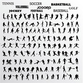 Various Athletes Action Pictures