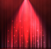Red spotlight stage vector background material
