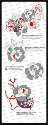 Hand-Painted Roses Psd Line Drawing Effects Layered Material
