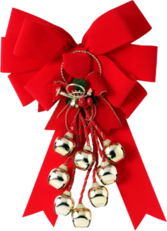 Red Ribbon with Bells PSD