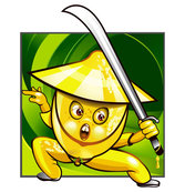 Cartoon fruits warrior image 02