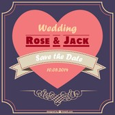 Romantic wedding card