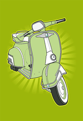 Retro Small Motorcycle