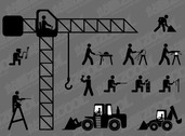 Construction Workers Vector Graphic Version Of Matchstick M