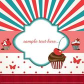 CUP CAKE VECTOR BACKGROUND.eps