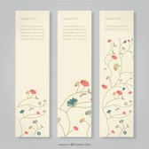Floral banners Free Set
