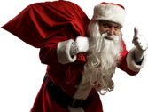 Santa With Bag PSD