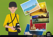 Travel Photographer Concept