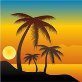 PALM TREES IN THE SUNSET VECTOR.eps
