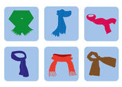 Free Vector Neck Scarf Icons