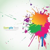 Colorful Ink Splashes Background