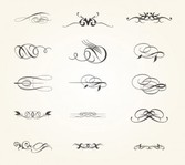 Calligraphic Design Elements and Frames. Vintage Collection