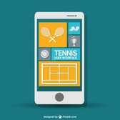Mobile tennis game