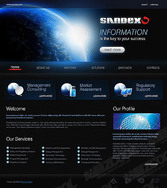 Technologies Theme Of The Flash + Xhtml Page Template